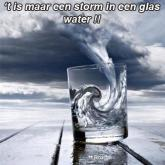 storm in een glas water